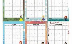 Printable 2018 Disney Calendar Seven Photo