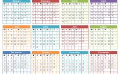 Printable 2019 12 Month Calendar Template Word Pdf Us Edition