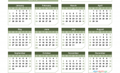 Printable 2019 Yearly Calendar Template Paper Style Us Edition