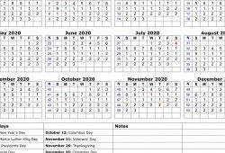 Calendar Monthly 2020