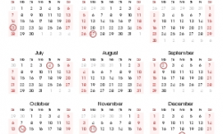 2021 United States Government Calendar
