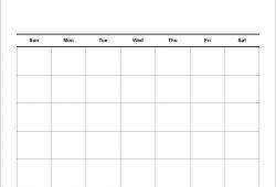 30 Day Blank Calendar Printable