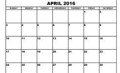 Printable April 2016 Calendar Pdf Aaron The Artist