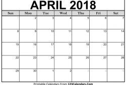 Calendar Of April