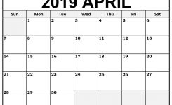 Printable April 2019 Calendar Templates 123calendars