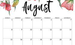 Printable Aug 2021 Calendar