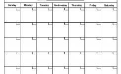 Printable Blank Calendar Template Organizing Print