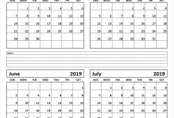 April May June July 2019 Calendar