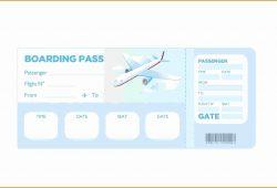 Blank Boarding Pass Template Free