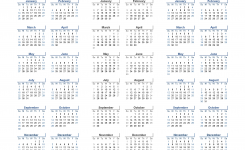 Printable Calendar 2018 2019 And 2020 3 Year Calendar Light Design