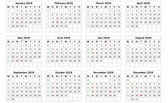 Printable Calendar 2018 Yearly Northfourthwallco