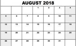 Printable Calendar August 2018 Template Download Free Calendar