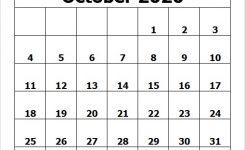 Printable Calendar October 2020 Template Pdf Excel Word Image