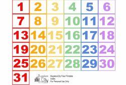 Printable Calendar Pieces