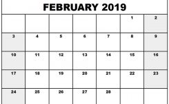 Printable Calendar Template February 2019 Working With Google Docs