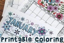 Coloring Calendar 2021 2