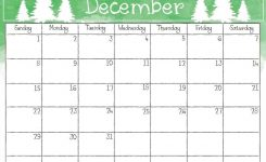 Printable December 2019 Christmas Calendar Calendar 2018