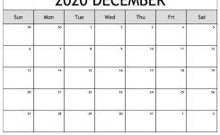 Printable December 2020 Calendar – Ko-Fi ❤️ Where Creators
