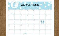 Printable Due Date Calendar Free Calendar 2017 2018