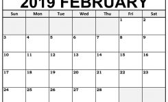 Printable February 2019 Calendar Templates 123calendars