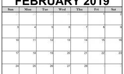 February Calendar For 2019
