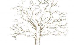 Printable Fingerprint Tree Hand Drawn Customizable Thumbprint Tree