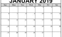 Printable January 2019 Calendar Templates 123calendars