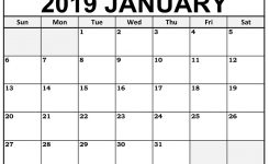 Printable January 2019 Calendar Templates 123calendars