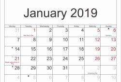 Moon Calendar 2020 January