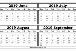 2019 July August And September Calendar Uk