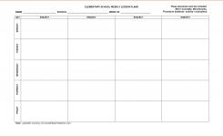 Printable Lesson Plan Calendar 8 Free Printable Lesson Plan Template