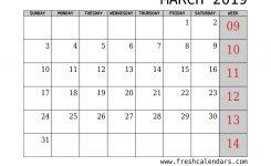 Printable March 2019 Calendar Fresh Calendars