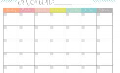 Printable Monthly Calander Hauck Mansion