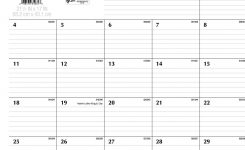 Printable Monthly Calendar With Lines 7 Best Of Number Lined