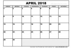 Calendar April Pdf