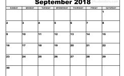 Printable September 2018 Calendar Qualads