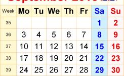 Printable September 2018 Calendar Uk Calendar Printable With