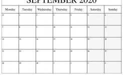Printable September 2020 Calendar – Ko-Fi ❤️ Where
