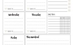 Printable Weekly Planner Skip To My Lou