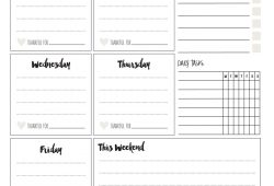 Printable Planning Calendar
