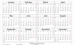 Printable Yearly Printable 2019 Calendar Pdf Template