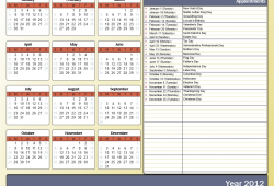 Print Yearly Calendar Outlook