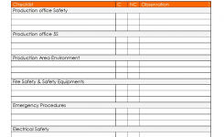 Production Safety Inspection Checklist