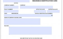 Proof Of Insurance Card Template Best Business Plan Template