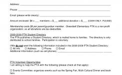 Pta Membership Form Pta Pta Pto Membership Pta School