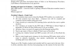 Pto Minutes Template Heights Parent Teacher Organization Inc Pto