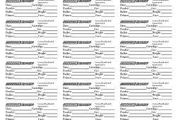 Printable Reloading Data Sheet