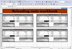 Reloading Data Sheet Excel