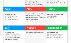 Retail Marketing Calendar 2018 Key Dates Veeqo Blog