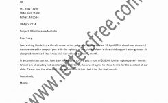 Sample Child Support Agreement Letter Awesome A Written Child
